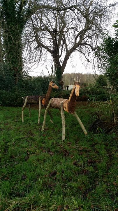 We have another arrival who has come to keep  our resident deer company for Christmas!!